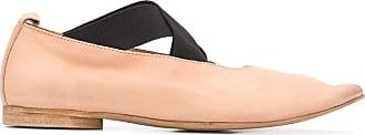 Uma Wang crisscross strap pointed toe ballerinas - Brown