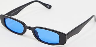 ASOS DESIGN mid square sunglasses in orange
