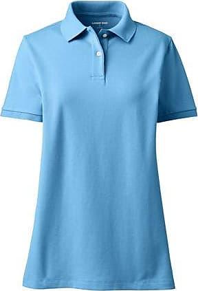 Lands End Piqué-Poloshirt in großen Größen - Blau - 52-54 von Lands End