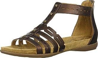 f9946e2329b7 Naturalizer Womens Antigua Flat Sandal Bronze 9.5 M US