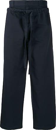 J.W.Anderson Calça pantalona com cordão - Azul