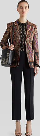 Etro Tailored Trousers, Woman, Black, Size 40