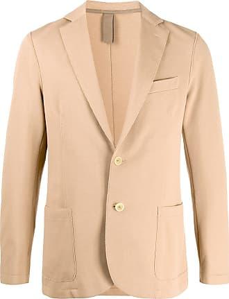 Eleventy single-breasted raw-edges blazer - Brown