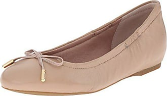Rockport Womens Total Motion Hidden Wedge Tied Ballet Warm Taupe Nappa 7 W (C)