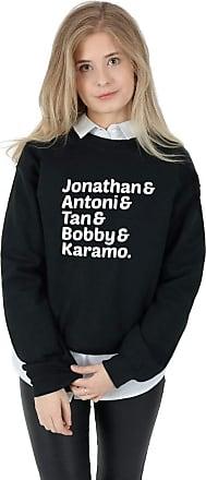 Sanfran Clothing Queer Eye Names Top Funny TV Show Jonathan Antoni Tan Bobby Karamo Jumper Sweater Medium/Black