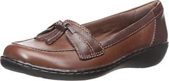 Clarks Womens Ashland Bubble Slip-On Loafer, Brown Multi, 7 UK