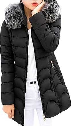 VITryst Womens Hooded Thickened Long Down Jacket Winter Down Coat Parka Puffer Jacket,Black,X-Small