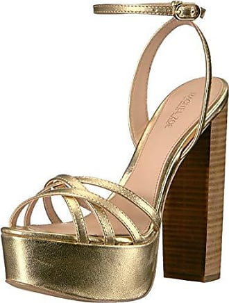Rachel Zoe Womens Charlotte Platform Sandal Heeled, Light Gold 7.5 M US