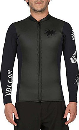 Volcom Mens Chesticle Wetsuit Jacket, Black, X-Small