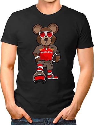 OM3 Tampa-Bay-Bear - T-Shirt | Mens | American Football Shirt | 3XL, Black