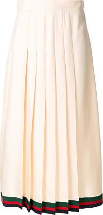 65e71b0d12 Gucci pleated midi skirt with Web trim - Neutrals