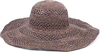 ále by Alessandra Womens Camille Intricate Weave Toyo Floppy Sunhat, Espresso, One Size