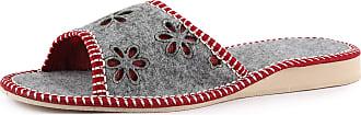 Ladeheid Womens Slippers House Shoes LAFA051 (Dark Melange/Red, 37 EU = 4 UK)