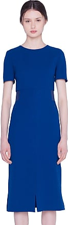 Akris Dress in Double Face Wool Dress with Round Neck