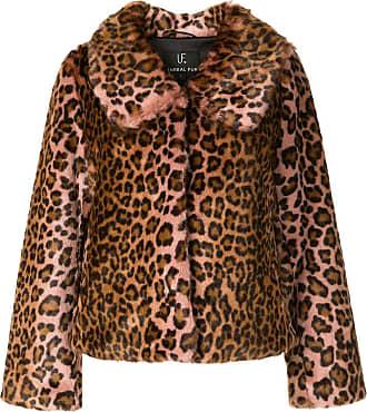 Unreal Fur textured leopard print coat - PINK