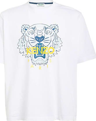 Kenzo Oversized-Shirt TIGER - WEISS/ BLAU/ GELB