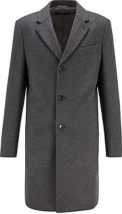 BOSS Slim-Fit Mantel aus Schurwolle mit Kaschmir
