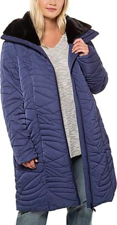 Ulla Popken Womens Nkmrasse Ls SWE Card Wh Unb Coat, Blue (Marine Melliert 79), (Size: 62+)
