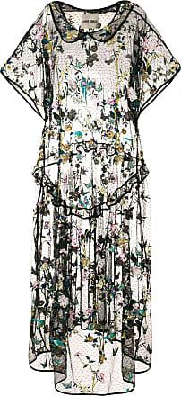 Henrik Vibskov Vestido com bordado floral - Preto