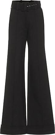 Victoria Beckham Belted high-rise jersey pants