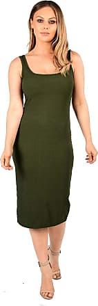 New Womens Brown with White /& Black Stripes Ribbed Bodycon Midi Dress Size 8-14