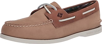 Sperry Top-Sider Sperry Mens A/O 2-Eye PLUSHWAVE Boat Shoe, Brown (Tan/Brown), 12 UK