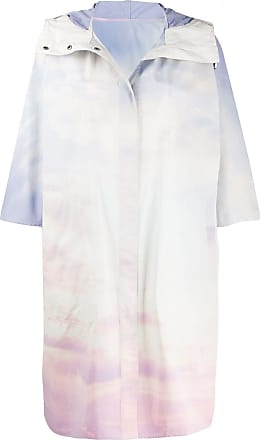 Yves Salomon - Army sky print raincoat - White