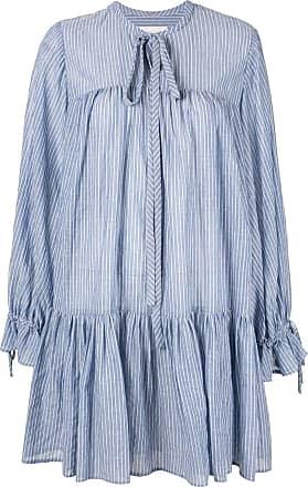 Karen Walker striped short dress - Blue