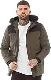 Brave Soul padded jacket with faux fur hood trim