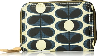 Orla Kiely Medium Zip Wallet, Indigo