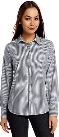 oodji Womens Basic Slim-Fit Shirt, White, UK 14 / EU 44 / XL