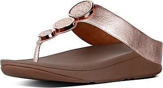 2c30b9084 FitFlop Fit Flop Womenss Halo Tm Toe Thong Sandals Flip Flops Pink (Rose  Gold 323