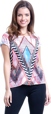 101 Resort Wear Blusa 101 Resort Wear Tunica Mangas Curtas Estampada Grafismo