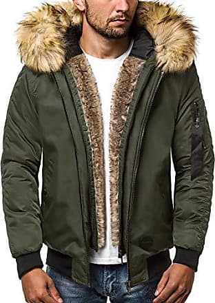 OZONEE Herren Winterjacke Parka Jacke Kapuzenjacke Wärmejacke Wintermantel  Coat Wärmemantel Warm Modern Täglichen 777 473K ef46339c65