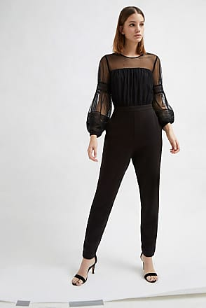 French Connection Paulette Jersey Puff Sleeve Jumpsuit