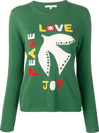 Chinti and Parker Suéter Joy, Peace, Love - Verde