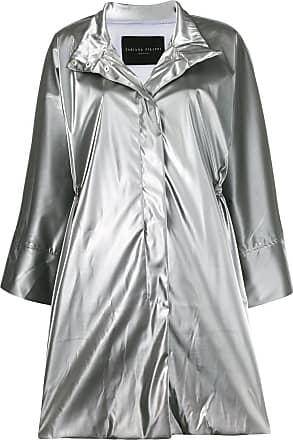 Fabiana Filippi metallic rain coat