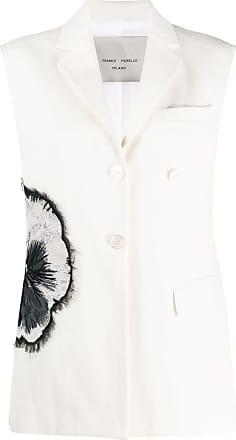 Frankie Morello Colete com botões - Branco