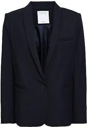 Sandro Sandro Woman Woven Blazer Navy Size 42