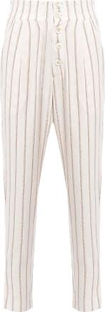 Dress To Calça Listrada Botão - Off White