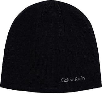 Calvin Klein Mens Solid Reversible Beanie, Black, One Size