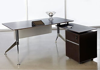 Unique Furniture 300 Collection L-Shaped Computer Desk - Espresso - JOLL441-1