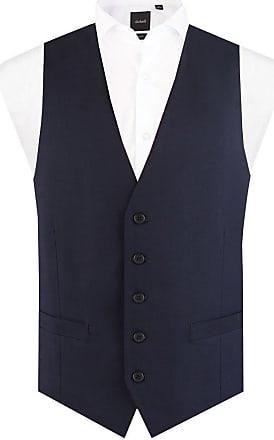 Dobell Mens Navy Suit Waistcoat Regular Fit 5 Button Travel/Performance-4XL (58-60in)
