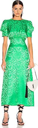 Saloni Bianca Dress in Green