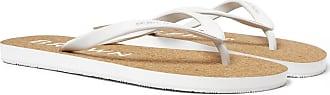 Orlebar Brown Haston Rubber And Cork Flip Flops - White