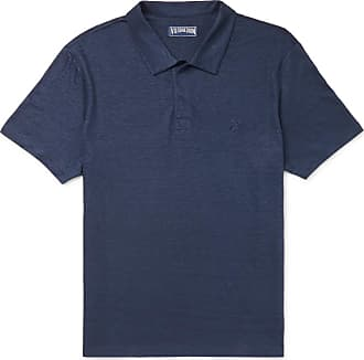 Vilebrequin Pyramid Slim-fit Linen-jersey Polo Shirt - Navy
