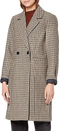 Vero Moda Womens Vmcheck Rambla 3/4 Wool Jacket Boos Coat, Brown (Tobacco Brown Tobacco Brown), X-Large