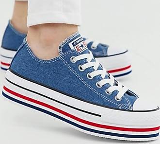 Converse Chuck Taylor All Star - Blaue Sneaker mit Plateausohle
