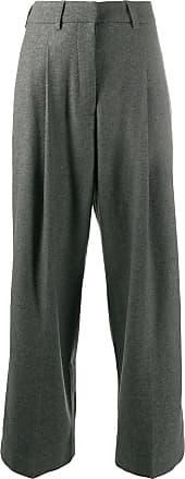 JEJIA wide-leg tailored trousers - Cinza