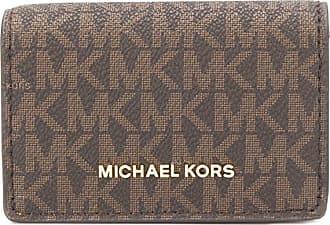 Michael Michael Kors Porta-moedas com estampa monogramada - Marrom